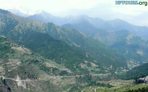 View of Barot village in Barot valley, Mandi, Himachal Pradesh