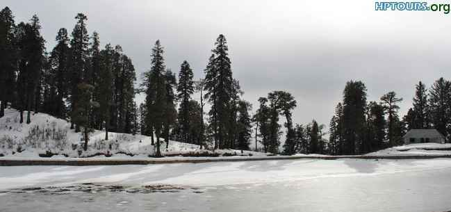 Kamrunag-Lake-Mandi-District during Snowfall